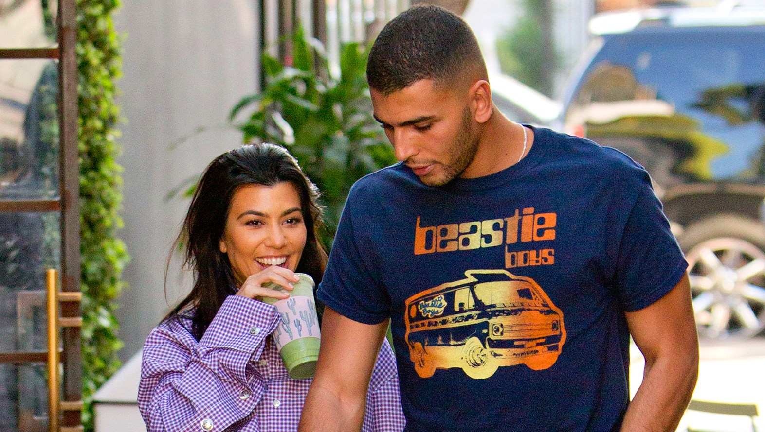 Younes Bendjima and Kourtney Kardashian